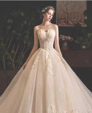 肩宽胳膊粗,穿什么样的婚纱?