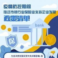 宿迁银行业保险业支持企业发展政策清单
