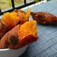 电饭煲烤红薯的做法,不需加一滴水!