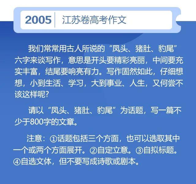 2020江苏高考作文题出炉!