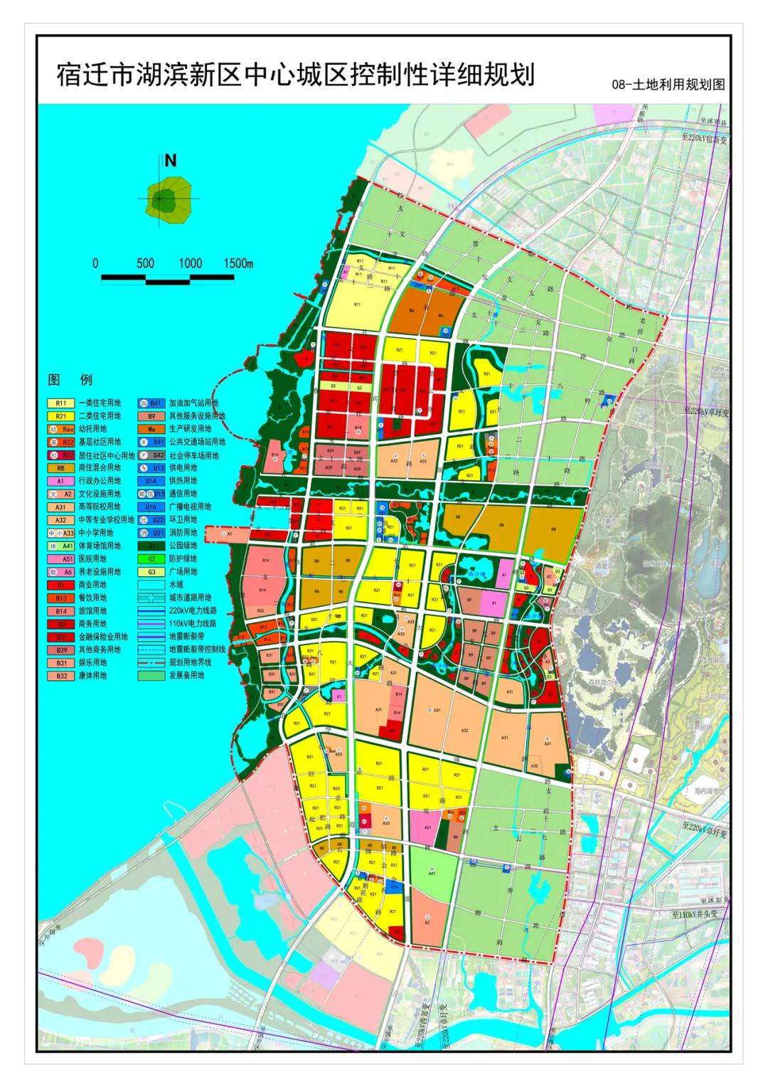 来看!网传湖滨新区中心城区控制性详细规划图
